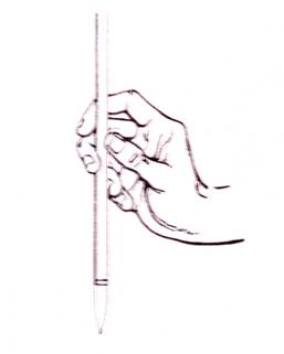 Good maintain of the brush in chinese painting