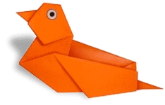 Mandarin duck Origami, picture of menu