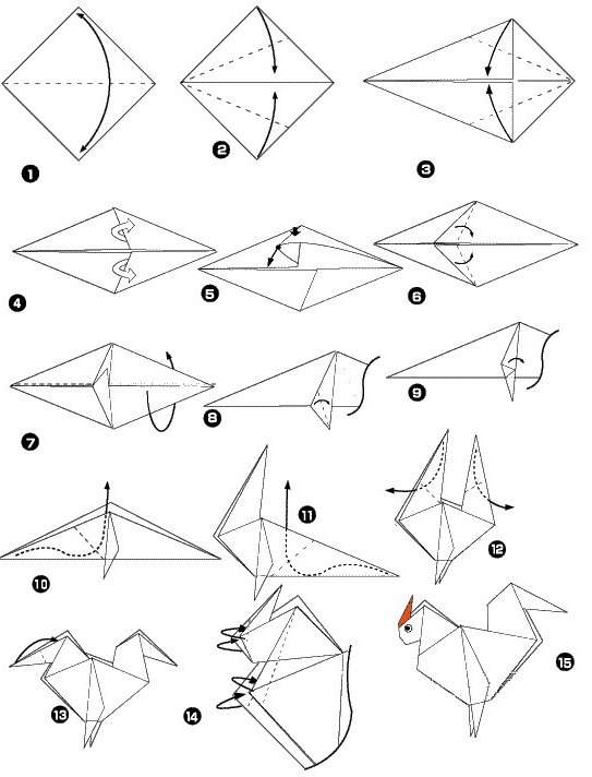 origami ecureuil simple
