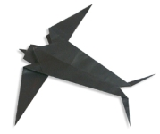 Origami of swallow, picture of menu