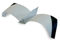 Origami of seagull, picture of menu