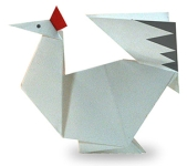 Origami of chicken, picture of menu