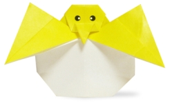 Origami of retiring chick of l' .uf, picture of menu