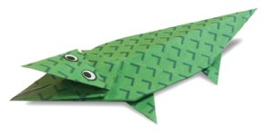 Origami of alligator, picture of menu