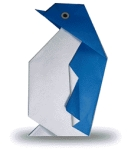 Origami of penguin, picture of menu