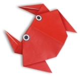 Origami de crab mic , imagine din meniu