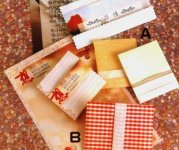 Origami of gift envelope, picture of menu