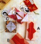 Origami of chinese envelope, picture of menu