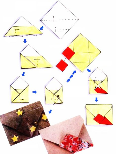 Origami of commercial envelope