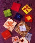 Origami of cross envelope, picture of menu