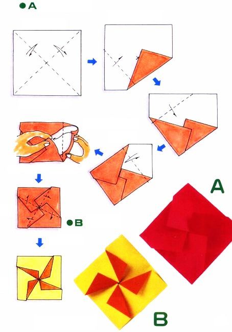 Origami of cross envelope
