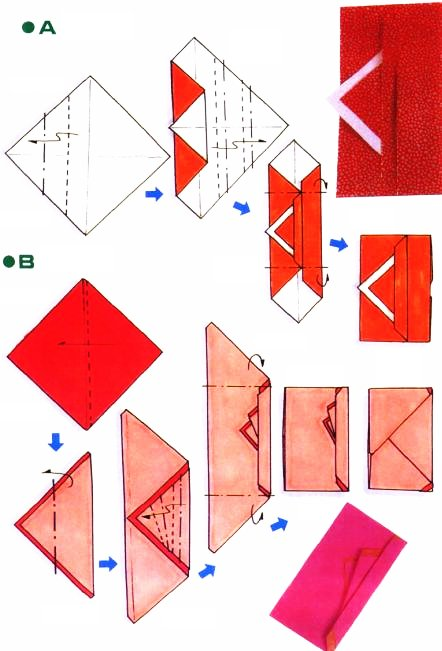 Origami of party envelope