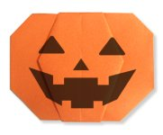 Origami of pumpkin lantern