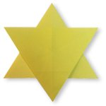 Origami of six-pointed star