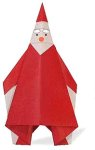 Origami of Santa Claus star