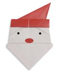 Origami of Santa Claus head