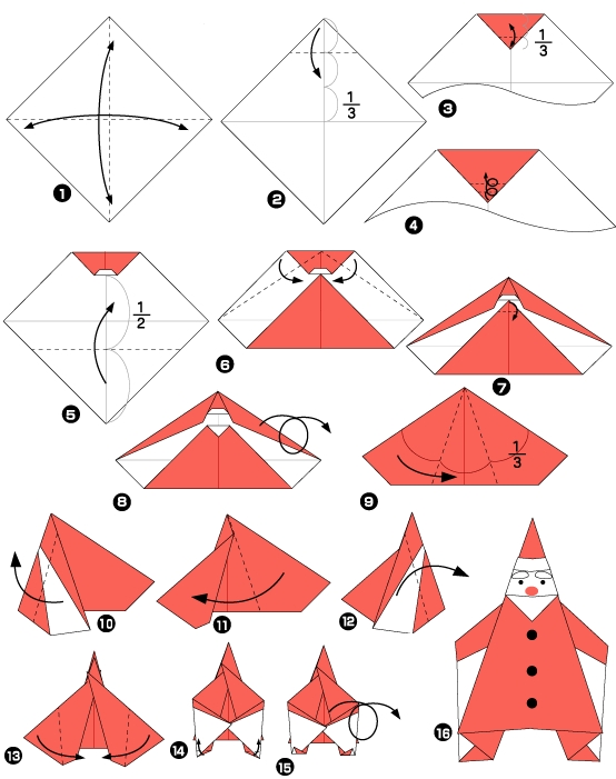Origami pour les f tes le p re no l - Decoration noel origami ...