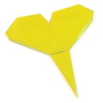 Origami of gingko leaf, picture of menu
