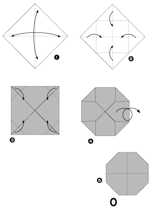 Origami of the letter O
