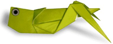 Origami of grasshopper, picture of menu