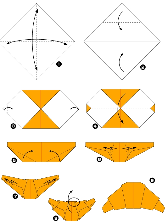 Origami of french croissant