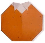 Origami d\'orange, image de menu