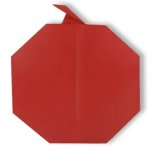 Origami of apple, picture of menu