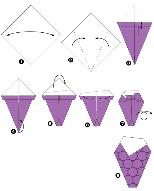 Origami of grape
