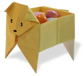 Origami of box dog, picture of menu