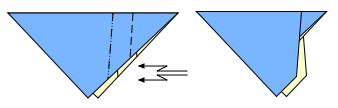 Double fold reversed interior