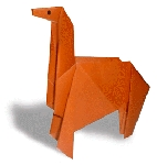 Origami of horse, picture of menu