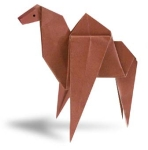 Origami of dromedary, picture of menu