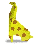 Origami of giraffe, picture of menu