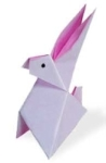 Origami of rabbit, picture of menu