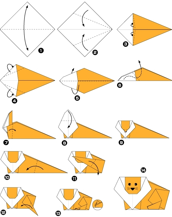 Origami animals printable instructions