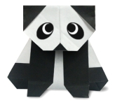 Origami of panda, picture of menu
