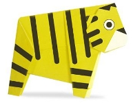 Origami of tiger, picture of menu