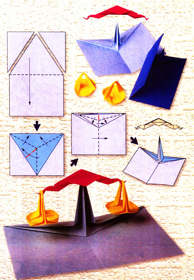 Diagram of origami of the zodiac: Libra