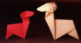 Origami zodiak: the aries, model 1
