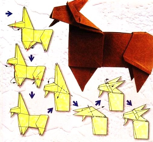 Origami of the zodiac: the aries