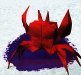 Origami of the sign of the zodiac: the cancer