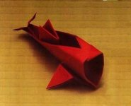 Origami of the zodiac: pisces, model 1