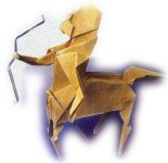 Origami of the zodiac: sagittarius the archer